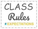 Class Rules Posters - Social Media Themed