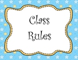 Class Rules Posters Star Background