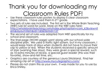 Class Rules Posters: WBT