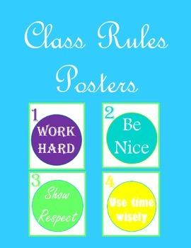 Class Rules Posters (Whole Brain Teaching compatible)