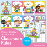 Class Rules Posters and Activity Book - editable