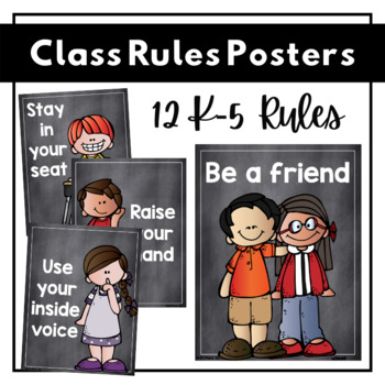 Class Rules Posters {chalkboard}