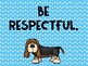 Class Rules Posters- dog theme
