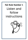 Class Rules Posters for Classroom Management