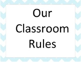 Class Rules Posters gray & blue