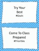 Class Rules Posters with Hashtags