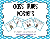 Class Rules Posters with Pictures