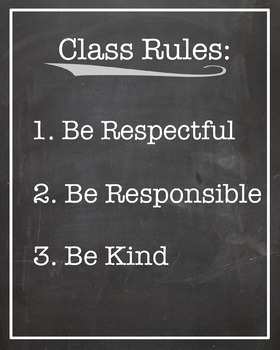 Class Rules- Printable