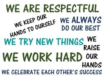 Class Rules Printable Poster - In Our Class...