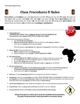 Class Rules/Procedures