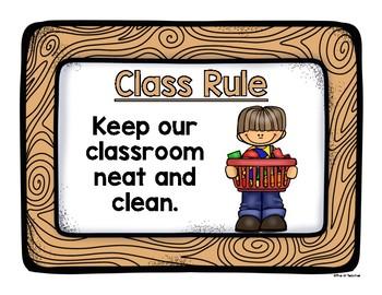 Class Rules Rainbow Wood Frame Edition