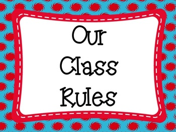Class Rules: Red and Blue Themed EDITABLE