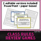 Class Rules Review Games: Fun paper-based & PowerPoint activities!