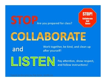 Class Rules-Blue SIMPLE/CLEVER/BOLD!