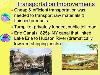 APUSH- Market and Transportation Revolutions Powerpoint