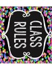 Class Rules Subway Art; black with bright colors