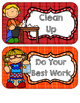 Classroom Rule Signs & Take Home Notes