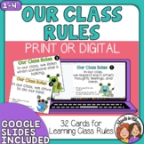 Class Rules Task Cards  Great for Back to School or Review