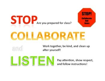 Class Rules-White SIMPLE/CLEVER/BOLD!