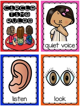 Class Rules And Circle Time Rules Posters Books And