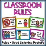 Classroom Rules Posters - Rainbow {Editable}