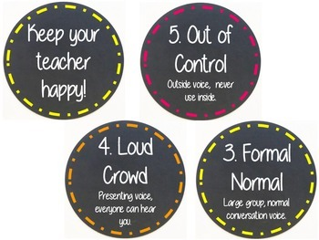 Class Rules and Voice Level, Chalkboard Theme