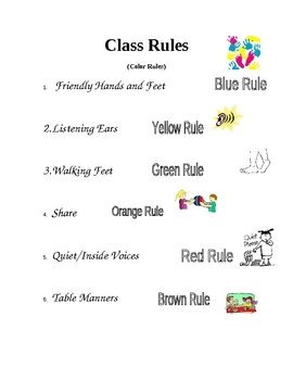 Class Rules by Color!
