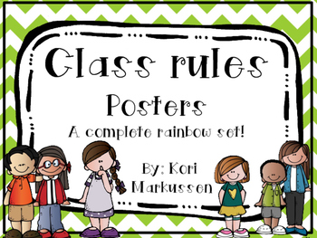 Class Rules- complete rainbow set