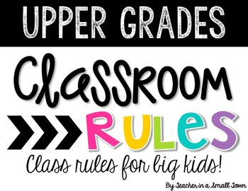 Class Rules for Big Kids