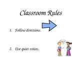 Class Rules for Kindergarten