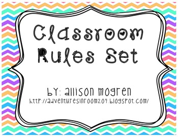 Class Rules for Whole Brain Teaching