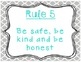 Class Rules for Whole Brain Teaching - Simple Colors