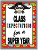 Superhero Class Rules or Expectations Signs