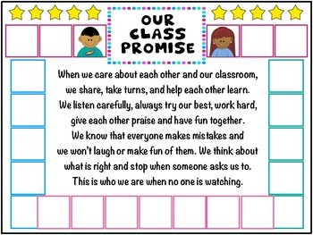 Class promise poster activity