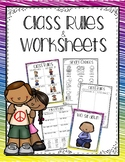 Class Rules & worksheets