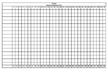 Class Running Record Form
