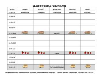 Class Schedule 8 Periods