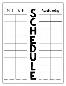 Class Schedule (Back to School)