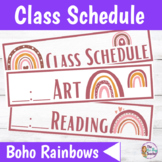 Class Schedule   Boho Rainbows