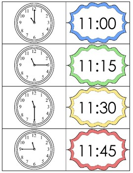 Class Schedule Card Freebie