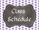 Editable Class Schedule Cards-Polka Dots