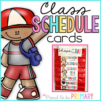 Class Schedule Cards EDITABLE