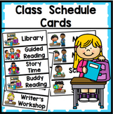 Class Schedule Cards - Back to School.