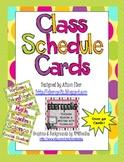 Class Schedule Cards - Bold