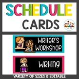 Chalkboard Brights Schedule Cards