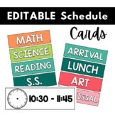 Class Schedule Cards   Daily Schedule   EDITABLE