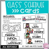 Class Schedule Cards [EDITABLE]