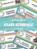 Class Schedule Cards- EDITABLE