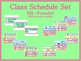 Class Schedule Cards  -  ESL-Friendly!