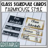 Classroom Daily Visual Schedule Cards Editable   Farmhouse